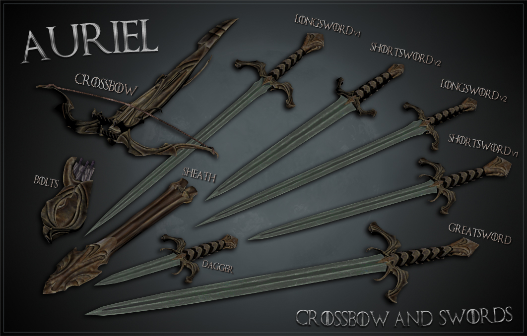 Ghosu - Auriel Crossbow and Swords OUT NOW at Skyrim Nexus - mods