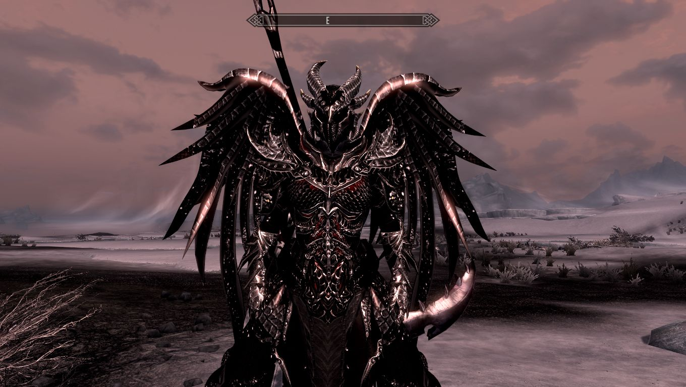 Daedric Wings At Skyrim Nexus Mods And Community In this video we are going to look at the daedric armor this armor is really cool and looks awesome with the red glow it has. daedric wings at skyrim nexus mods
