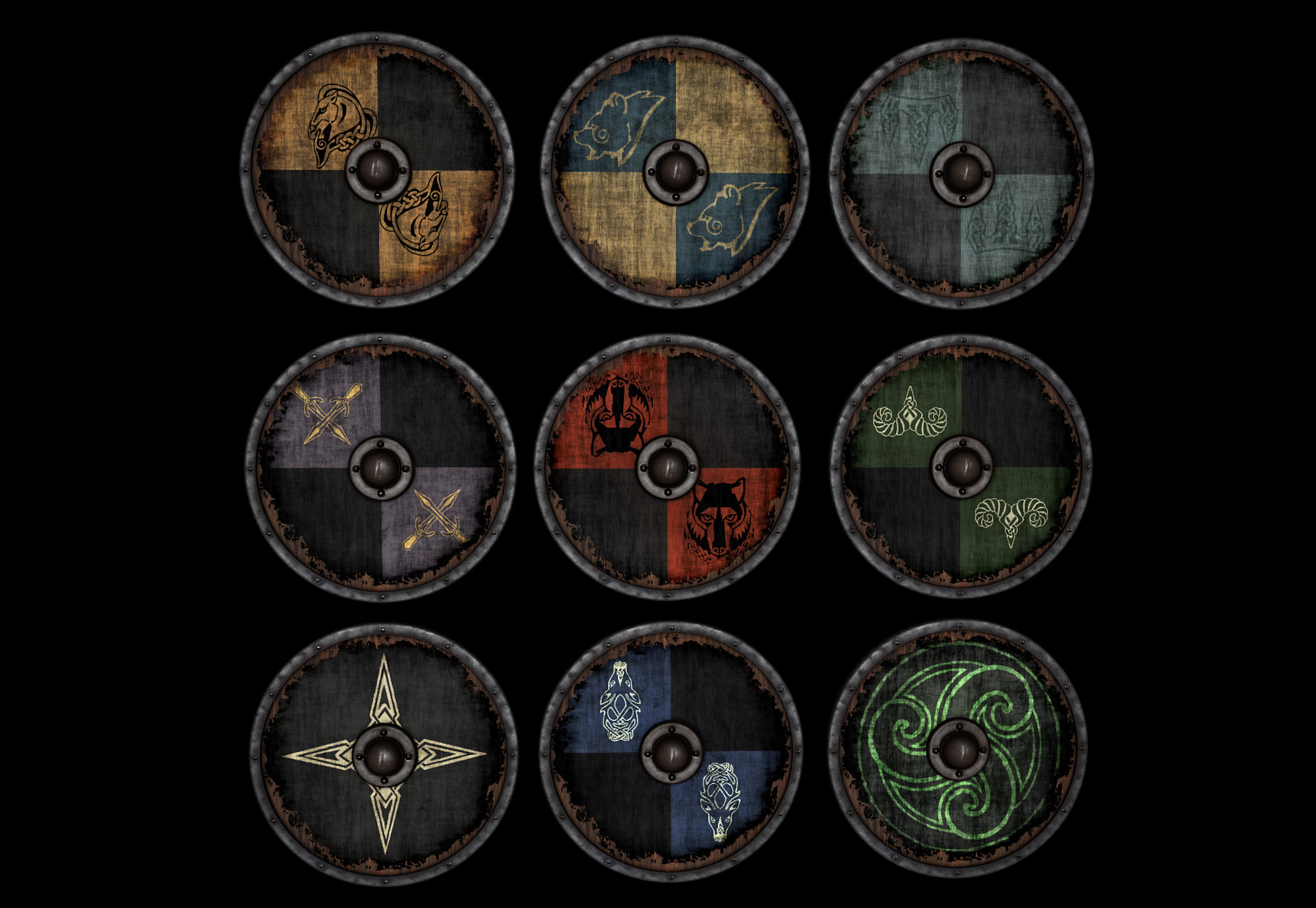 Alternate Town Guard shields