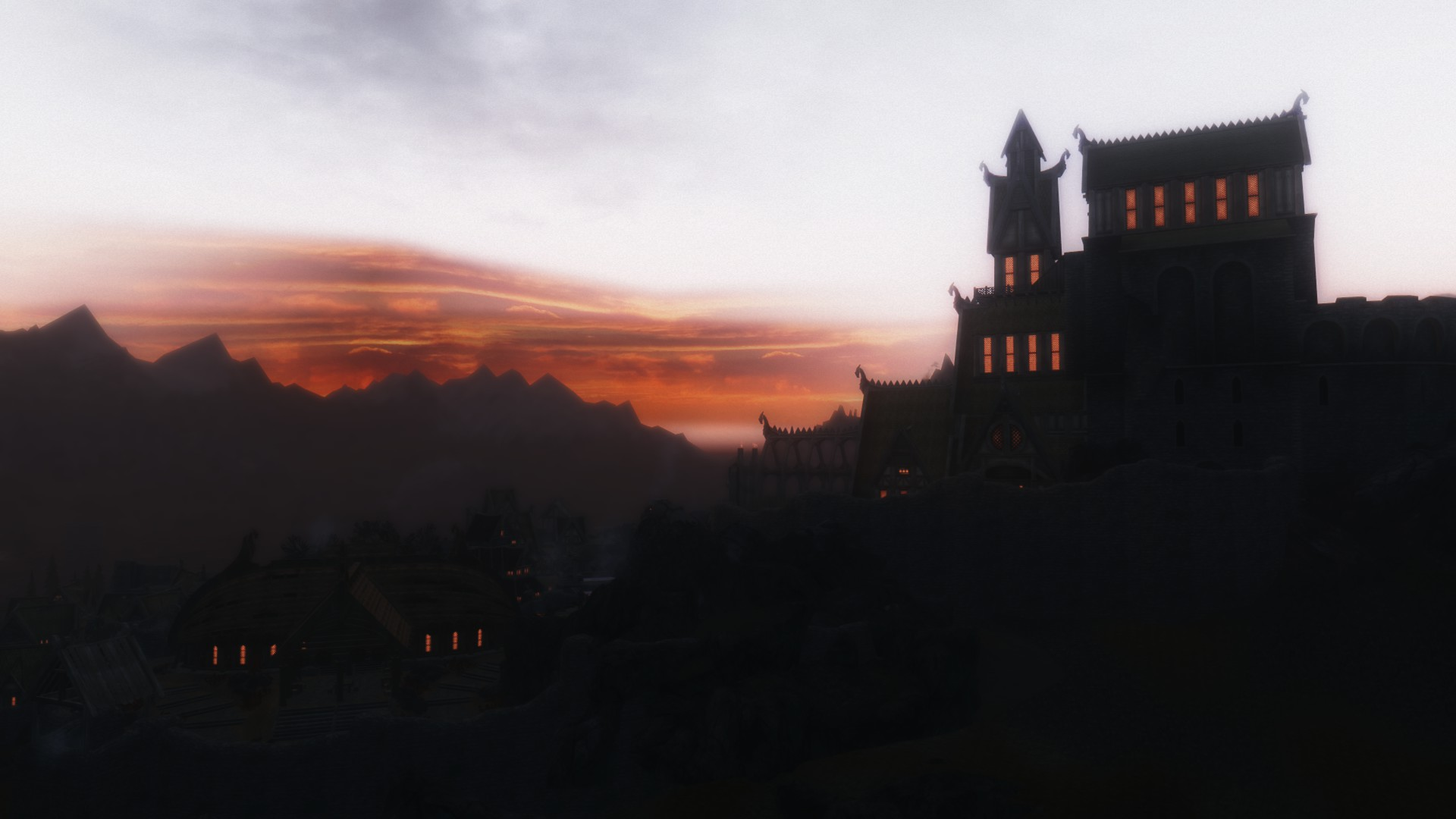 Sunset over Dragonsreach