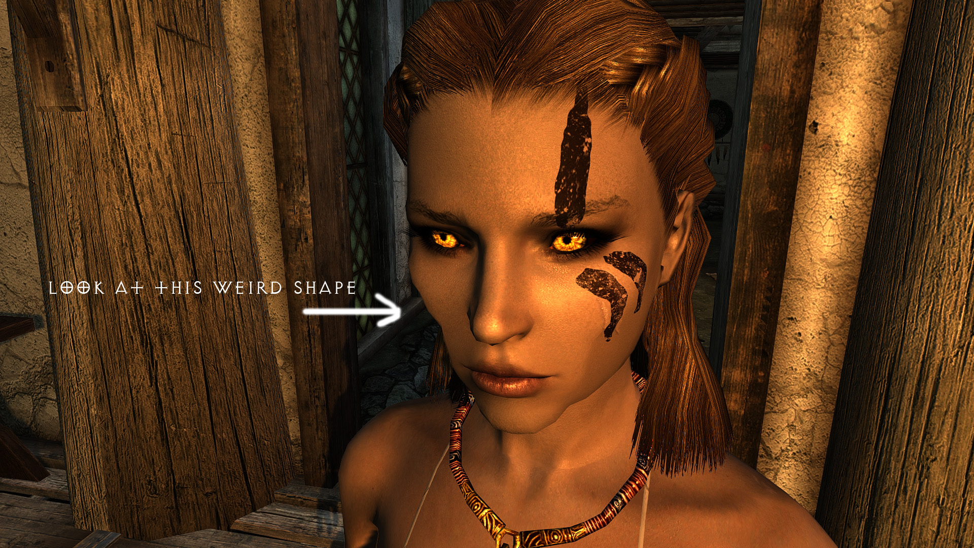 Something wrong with my face at Skyrim Nexus - mods and community