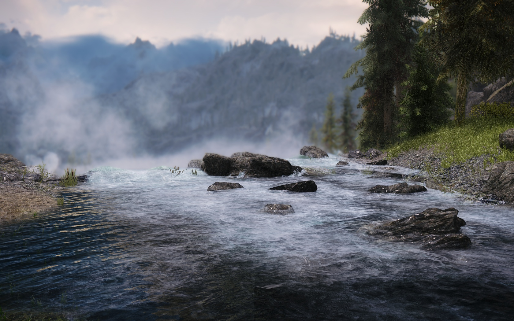 Waterfall Near Valtheim Towers