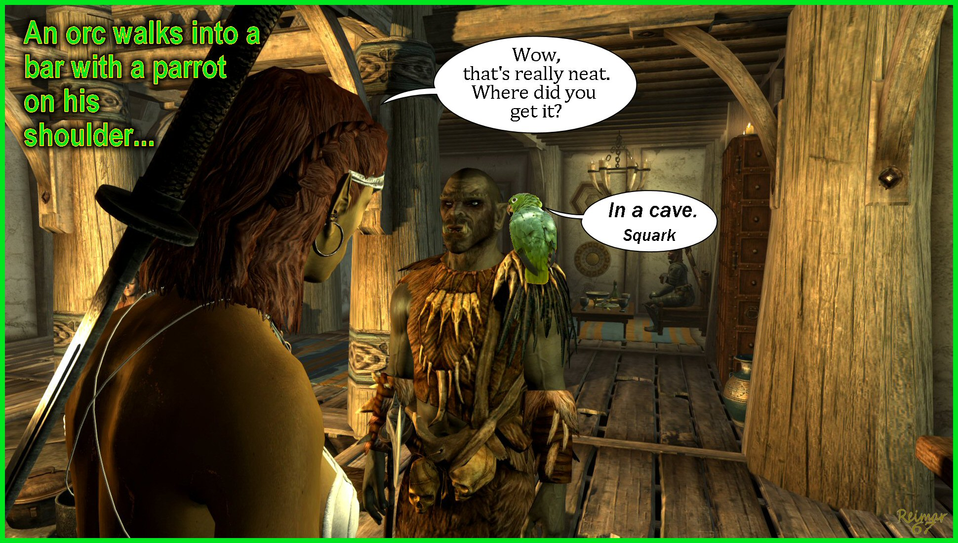The Orc and the Parrot