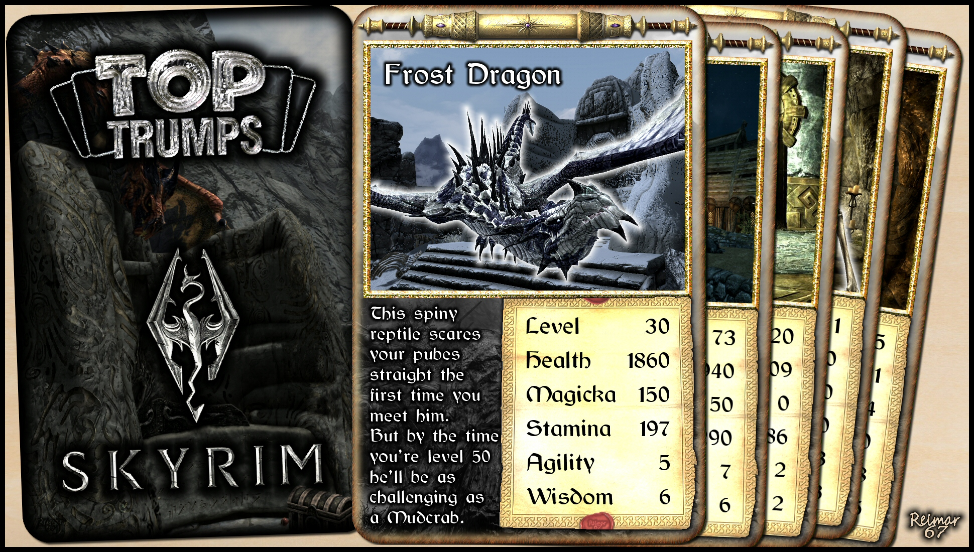 Skyrim Top Trumps - Frost Dragon