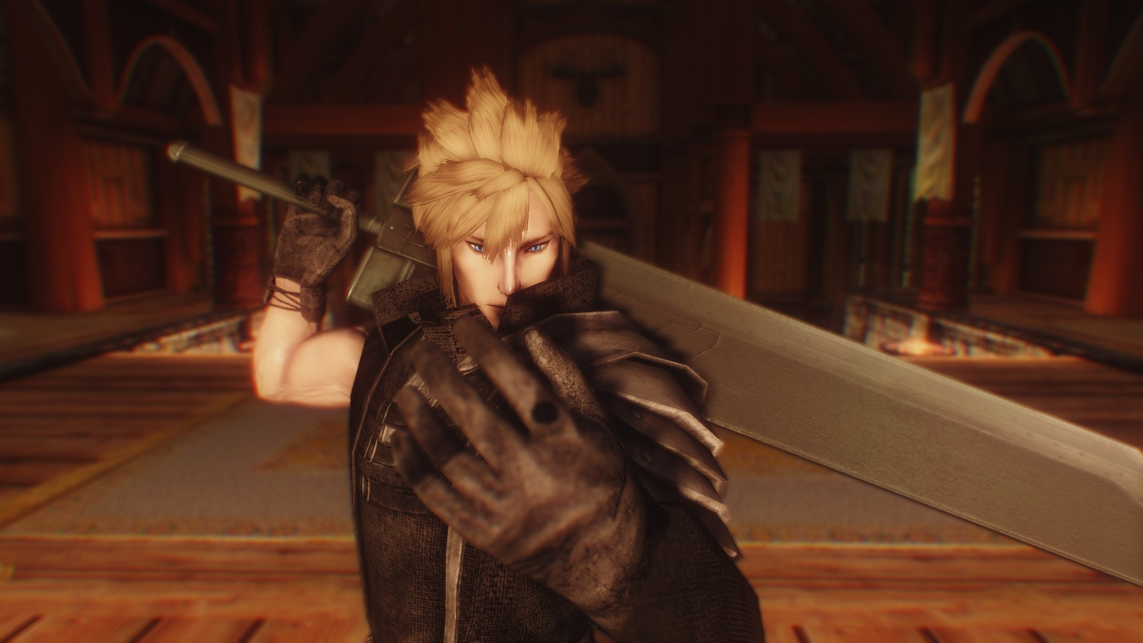 Cloud Strife in Skyrim at Skyrim Nexus - mods and community