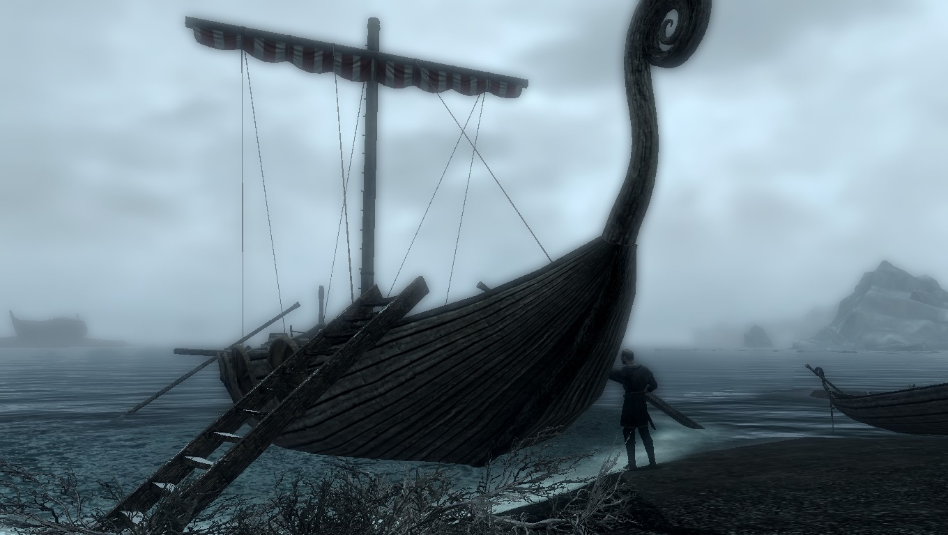 Floki working on a Viking ship