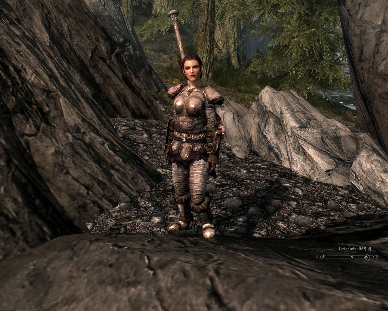 Thanks to amazing follower tweaks Camilla can explore Skyrim with me XD