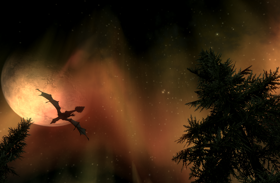 A Beautiful Night in Skyrim