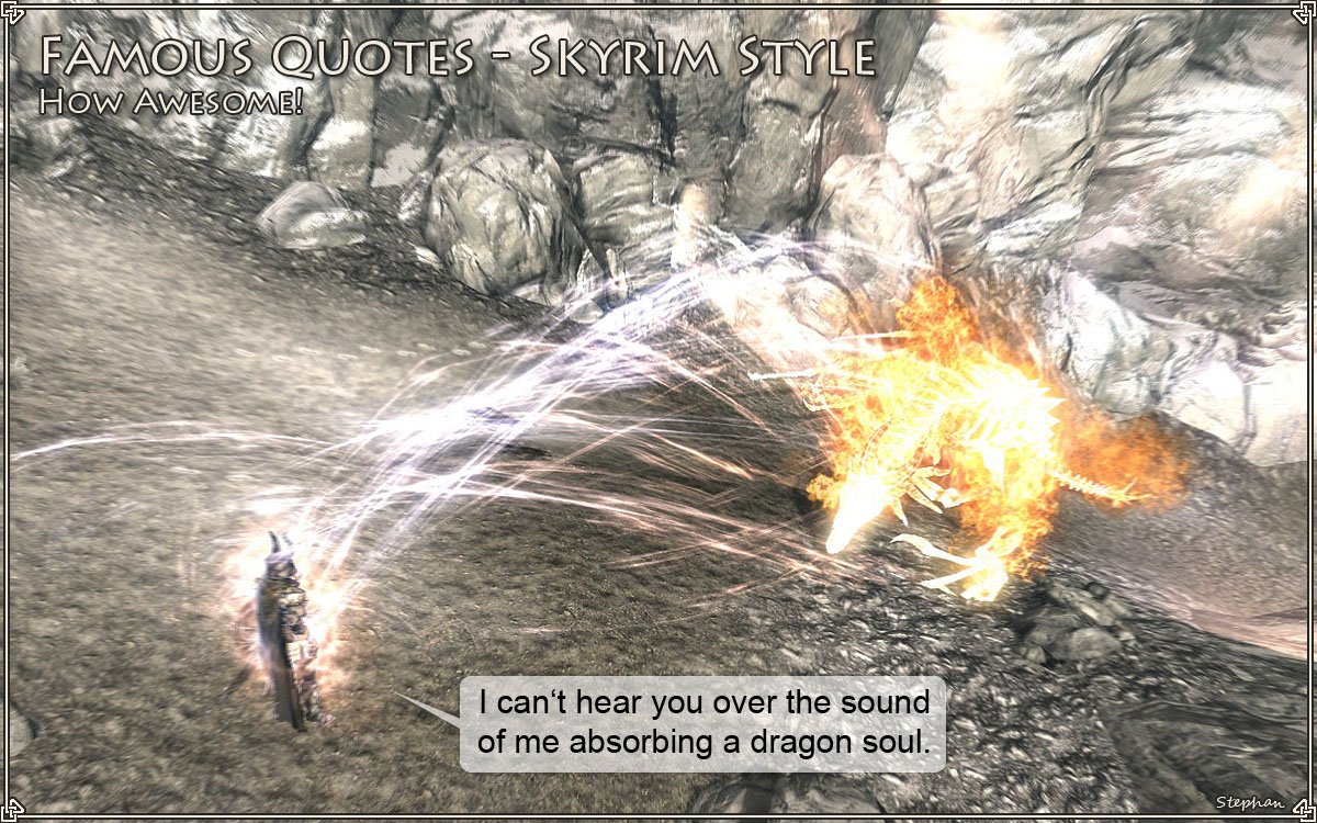 Famous Quotes - Skyrim Style 2 at Skyrim Nexus - mods and