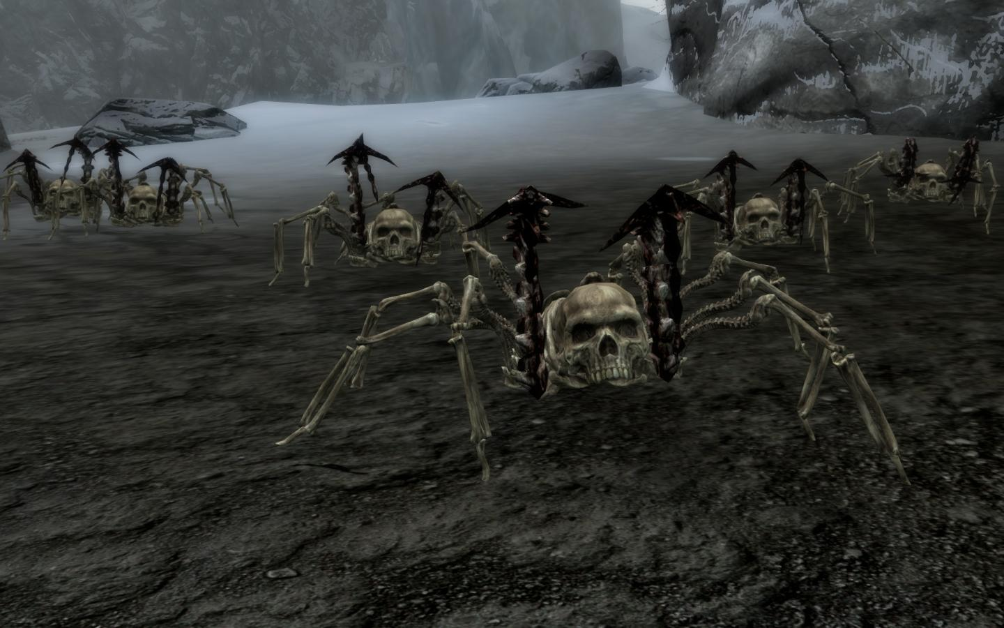 Skeleton Spider Swarm