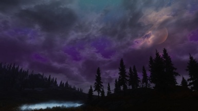 Mysterious Night Time sky