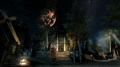 Whiterun under a red moon