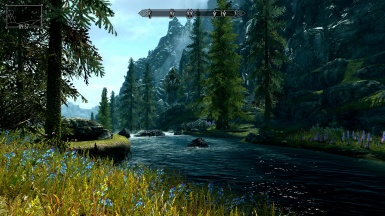 The journey from Riverwood to Whiterun