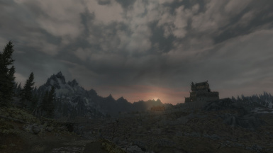 The beauty of Skyrim's landscape