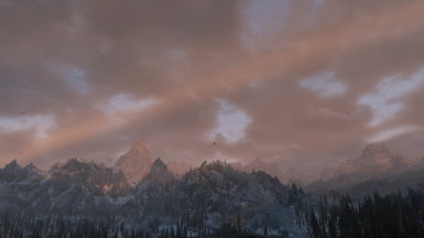 Sunset seen from Solitude