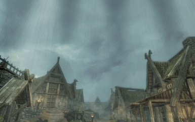 rainy today in whiterun have to find cover