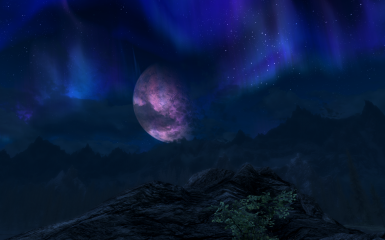 Moon falling behind the mountains