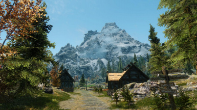 Distant High Hrothgar Seen From Whiterun