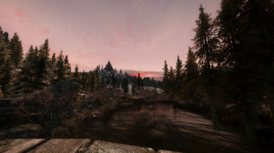 Sunset in Morthal