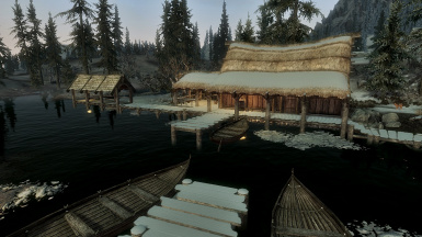 Morthal Lake in the evening light