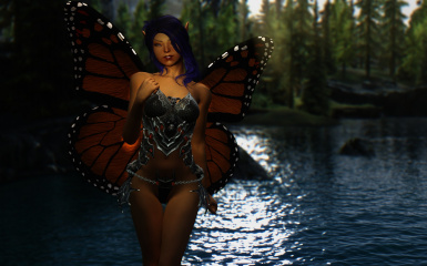 Smiling butterfly girl