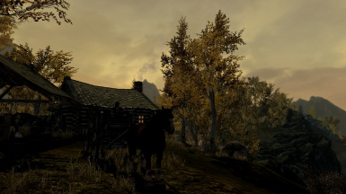 Evening at Riften Stable