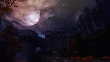 Fort Dawnguard at night