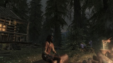 A quiet moment by the fire