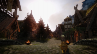 Whiterun with a lot of mods