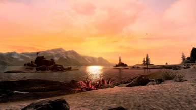 Solstheim Shore at Sunset