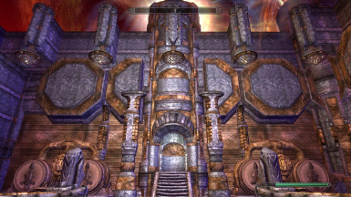 Dwemer Aetherial Palace update 2 Reworked Interior walls and lamps 02 WIP