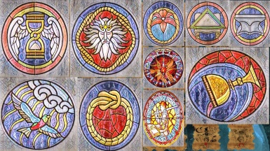 ESO Stained Glass Round Textures