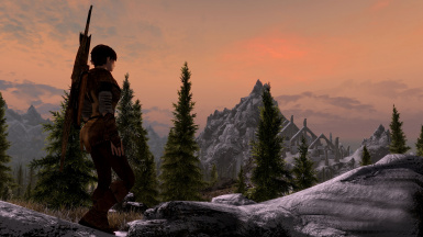 Sunset at Bleak Falls