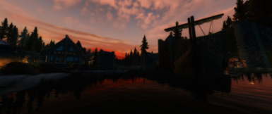 soft sunset in morthal
