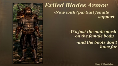 Exiled Blades Armor Partial Female Support