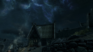 Tendril's of Blue Flame above Whiterun