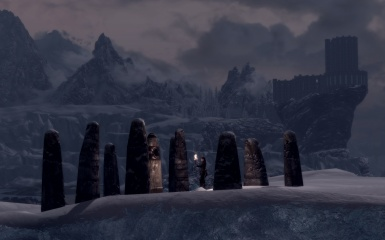 the Serpent Stone at twilight