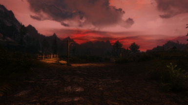 A Scarlet Setting in the West