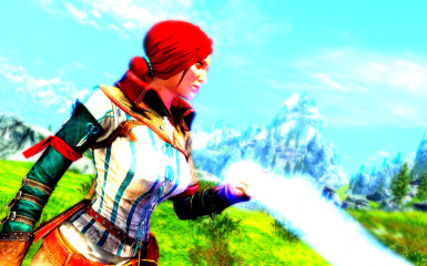 Triss loves colored lightning