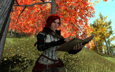 Reading a magic book by Triss