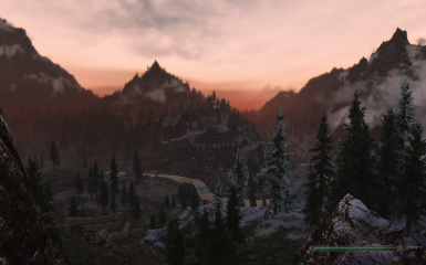 Landscape late evening by Windhelm