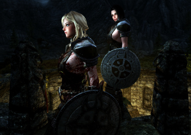 Dawn Guard Shield Maidens after clearing crypt