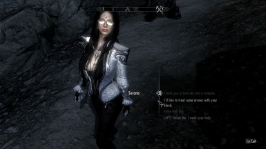 What with the glasses Serana