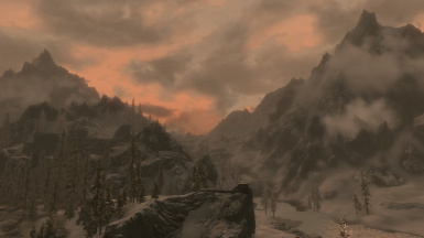 Sunset on Windhelm