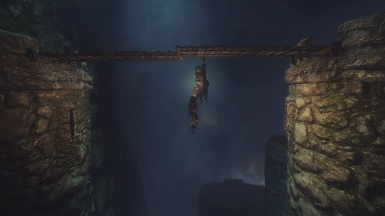 hanging for dear life