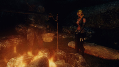 Telling tall tales around the campfire