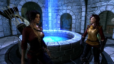 Miao with Iona at Winterhold