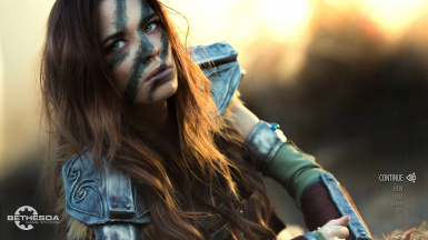 Aela Cosplay main menu