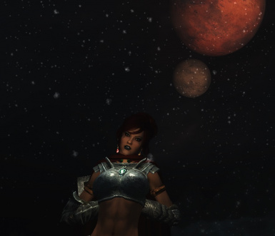 Posing under the Moons