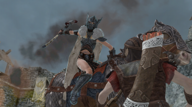 Freya At the siege of Whiterun